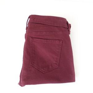 Abercrombie & Fitch jean cranberry Super skinny 24